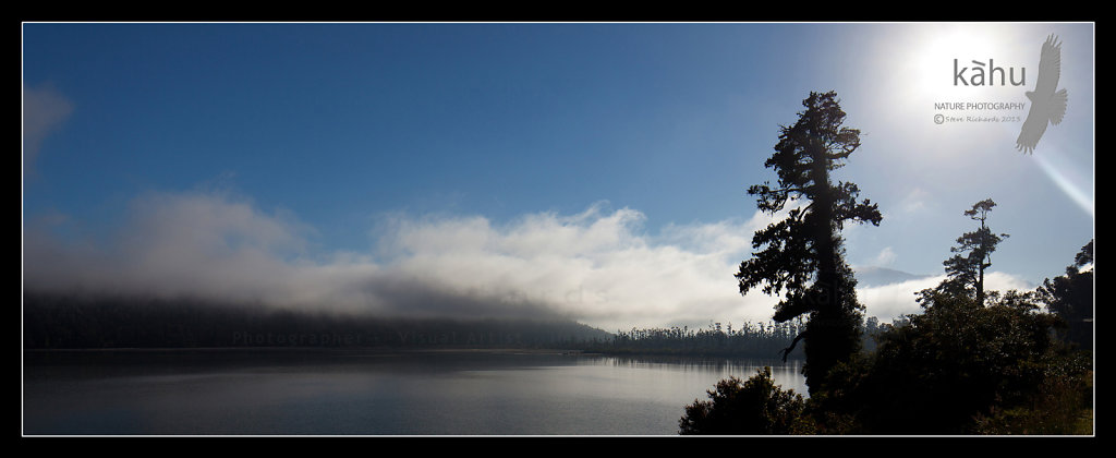 Mist over lake, West Coast  -  L35